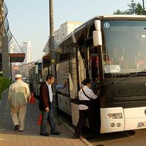 ツアー中お世話になるバス