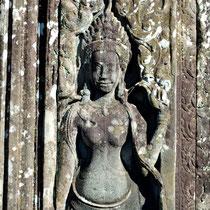 アンコールトム バイヨン第一回廊壁画 女神像