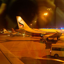 バンコク空港離陸前