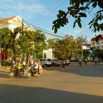 ホテルの近くの街路