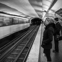 In der Metro in Paris