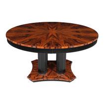 Art Deco Tisch ausziehbar T041. D.120 + 45 x H. 76 cm