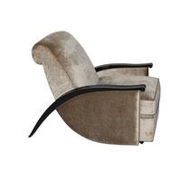 Art Deco Sessel S111 (nach J.E. Ruhlmann). B.82 x T.116 x H.90 cm