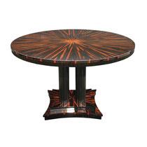 Art Deco Konferenztisch/ Esstisch T008. D.120 x H.78 cm