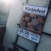Plakat der CSU für das Kürbisfest am 26.10.2019 in Veitsbronn
