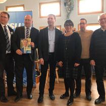 Frauen-Union Stein:  Betram Höfer, Matthias Dießl, Adelheid Seifert