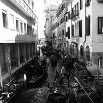 Venedig Gondoliere Rush hour