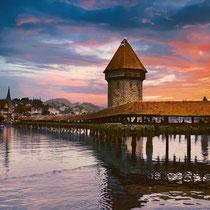 Kappelbrücke Luzern Schweiz