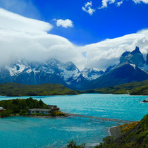 Torres del Paine Nationalpark See Hostel Berge
