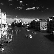 Venedig Canale Grande schwarz weiß