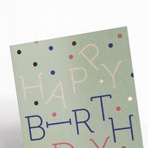 Birthday Punkte Typoesie