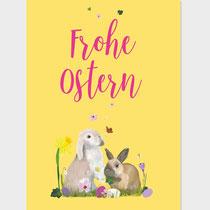 Frohe Ostern Kaninchen