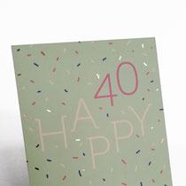 Happy 40 Typoesie