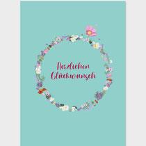 Glückwunsch Blumenkreis