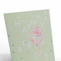 Birthday flower Typoesie