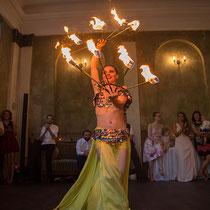 Orientalische Feuershow