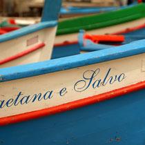 Fischerboote am Hafen von Sferrocavallo.