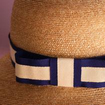 Hutband Blau/Weiß