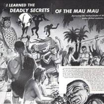 """Propaganda inglese contro i """"terroristi"""" MauMau"""