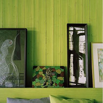 Green wall colour.