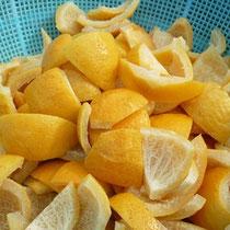 レモンピール作り