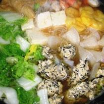 陳皮餅と陳皮入り鶏肉団子の鍋