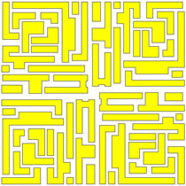 Maze Yellow - 100% Cotton