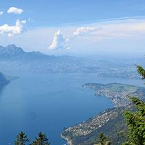 Blick vom Pilatus auf den Vierwaldstätter See, Schweiz