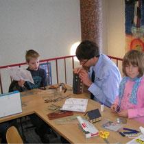 Bastelstraße für die Kinder auf unserer Ausstellung