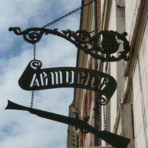 Enseigne armurier Mail Albert 1er- Amiens