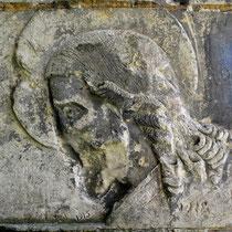 Visage du Christ, sculpté par un soldat-1915-1918