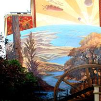 La fresque de la Maison de Jules Verne