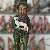 "design study homegnome, large gnome extending the rare Bexbach series, 38.5"" high, sold"