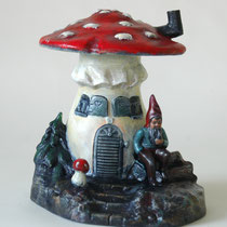 Griebel, Mushroom house with gnome infront, ~1920, for sale