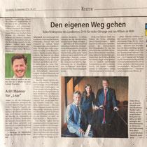 LZ 24th September 2016, source: Landeszeitung der Lüneburger Heide