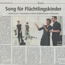 LZ 25th February 2016 Song für Flüchtlingskinder, source: Landeszeitung für die Lüneburger Heide Red. kg , Foto nh