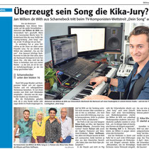 LP 05th March 2014  Überzeugt sein Song die Kika Jury?, source: LünePost, Redaktion Jan Beckmann, Foto bec & ZDF