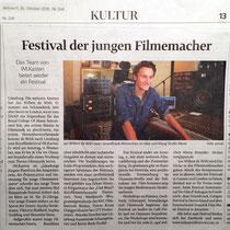 LZ 24th October 2010 Festival der jungen Filmemacher, source: Landeszeitung der Lüneburger Heide