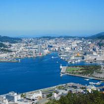 長崎・鍋蓋山からの長崎湾
