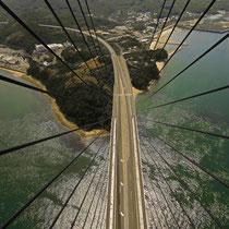 しまなみ海道、大三島 多々羅大橋展望から。