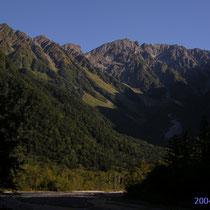 上高地からの岩稜 穂高岳