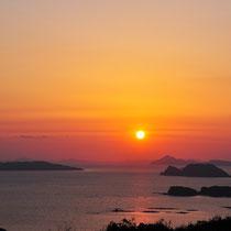 長崎・佐世保 九十九島の日没