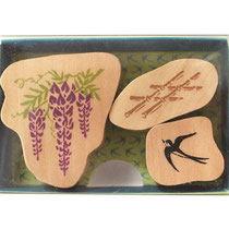 "* Stamp Set ""Fuji & Tsubame"" - Wisteria & Swallow -"