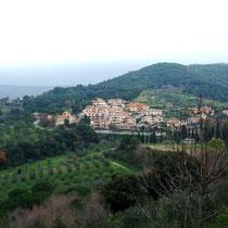 Castagneto Carducci - altes Städchen auf dem Hügel