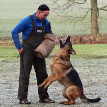 Mythos von Arminius - Schutzdienst-Training