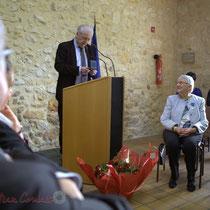 Philippe Madrelle, Président du Conseil général de la Gironde, Suzette Grel, Michel Nadaud. 7 février 2015, Le Pout
