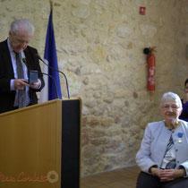 Philippe Madrelle, Président du Conseil général de la Gironde, Suzette Grel. 7 février 2015, Le Pout