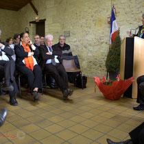 Discours de Françoise Cartron, Vice-présidente du Sénat. Remise de l'Ordre national du Mérite à Suzette Grel. Le Pout. 7 février 2015