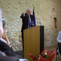 Philippe Madrelle, Président du Conseil général de la Gironde, s'adressant à ses collègues élu-es. 7 février 2015, Le Pout