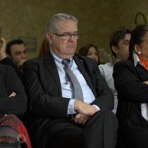 Mathilde Feld, Jean-Marie Darmian, Martine Faure. Remise de l'Ordre national du Mérite à Suzette Grel. Le Pout. 7 février 2015